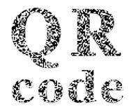 QR code textured inscription Stock Photos