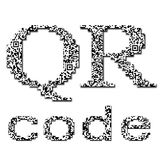 QR code textured text Royalty Free Stock Photos