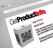 QR Code - Web Screen Website of Product Information Stock Photos