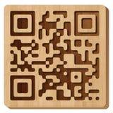 QR code - WOOD. Design qr code - wood Stock Photography