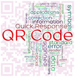 QR-code word tags Royalty Free Stock Images