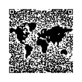 QR Code World map Stock Images