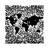 QR Code World map. QR Code pixels make a World Map Stock Images
