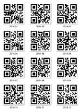 QR code about 2014 year (Vector). On white Stock Photo