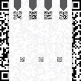 Qr coded website template design Royalty Free Stock Photography