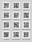 QR codes with congratulations Royalty Free Stock Images