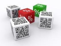 QR codes and percents Stock Photos