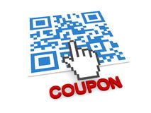 QR coupon Royalty Free Stock Images