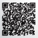 qr 3d Code mit Schatten Lizenzfreie Stockfotos