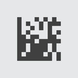 QR de illustratie van het codepictogram vector illustratie