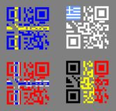 QR and flags Stock Images