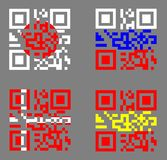 QR with flags Stock Image