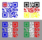 QR flags Stock Image