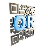 QR geïsoleerde de illustratie van de codetechnologie royalty-vrije illustratie
