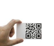 Qr hand message Stock Photography