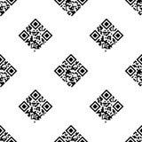 QR het naadloze patroon van de code Stock Foto's
