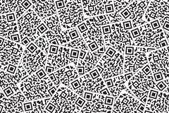 QR-kodbakgrund Den snabba svarskoden för supermarket, E-kommers, shoppar etc. royaltyfri illustrationer
