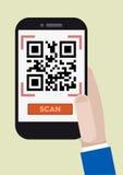Qr kodu obraz cyfrowy Zdjęcia Stock