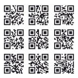 Qr kodu set, Kwadratowa produktu Barcode etykietka Zdjęcie Royalty Free
