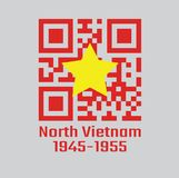 QR kodu ustalony kolor p??nocny wietnam 1945 to1955 fotografia royalty free