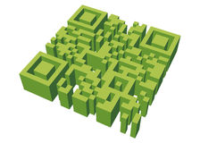 QR Maze. A maze in the shape of a Quick Response code Royalty Free Stock Photography
