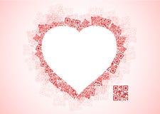 QR miłości wiadomość Obrazy Royalty Free