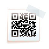 QR paper tag Stock Photos