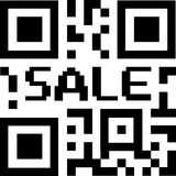 Qr sale code Royalty Free Stock Photos
