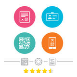 QR scan code icon. Boarding pass flight sign. Royalty Free Stock Photo