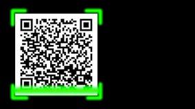 QR verleende de toegang van het streepjescodeaftasten stock video