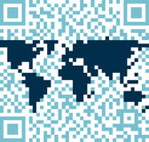 QR world Stock Photo