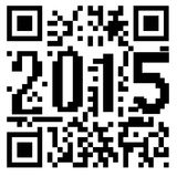 2015 QRcode. Balck and white Royalty Free Illustration