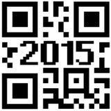 Qrcode del nuovo anno Immagini Stock Libere da Diritti