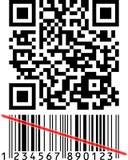 Qrcode en Streepjescode Stock Foto's