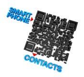 QRcode intelligente Telefon-Kontakte Stockbilder
