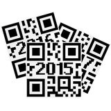 2015 qrcode Stock Image