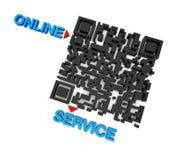 QRcode service Arkivfoto