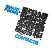 QRcode smart telefonkontakter Arkivbilder