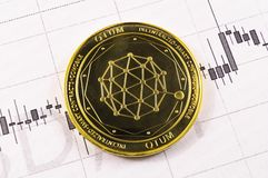 Qtum is a modern way of exchange and this crypto currency. Is a convenient means of payment in the financial stock image
