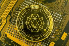 Qtum is a modern way of exchange and this crypto currency. Is a convenient means of payment in the financial stock images
