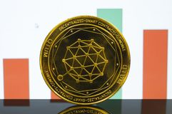 Qtum is a modern way of exchange and this crypto currency. Is a convenient means of payment in the financial and web markets stock photos