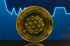 Qtum is a modern way of exchange and this crypto currency. Is a convenient means of payment in the financial and web markets royalty free stock photos