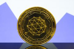 Qtum is a modern way of exchange and this crypto currency. Is a convenient means of payment in the financial and web markets royalty free stock images