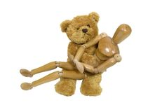 Qué abrazo de osos del peluche Foto de archivo libre de regalías