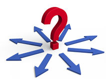 ¿Qué dirección a elegir? Imagen de archivo libre de regalías