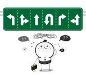 ¿Qué manera es la dirección correcta? Imagen de archivo