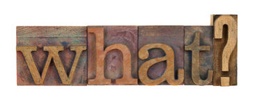 Qué pregunta Foto de archivo libre de regalías
