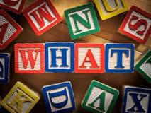 Qué pregunta Imagen de archivo libre de regalías