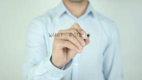 ¿Qué principios usted valora? , Escribiendo en la pantalla transparente almacen de metraje de vídeo