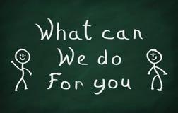 Qué puede nosotros hacer para usted Imagen de archivo